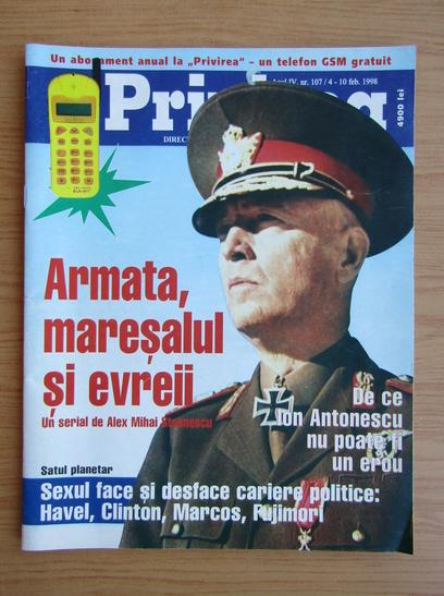 Anticariat: Revista Privirea, anul 4, nr. 107, 4-10 februarie 1998