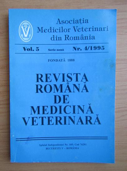 Anticariat: Revista Romana de Medicina Veterinara, volumul 5, nr. 4, 1995