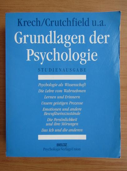 Anticariat: David Krech - Grundlagen der Psychologie