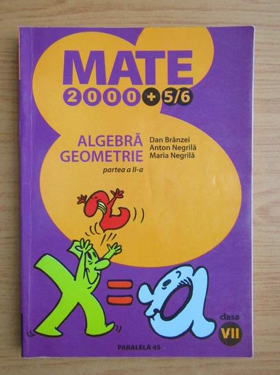Anticariat: Dan Branzei - Algebra. Geometrie. Clasa a VII-a, partea a II-a (2005)