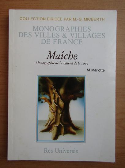 Anticariat: F. Mariotte - Maiche et ses environs