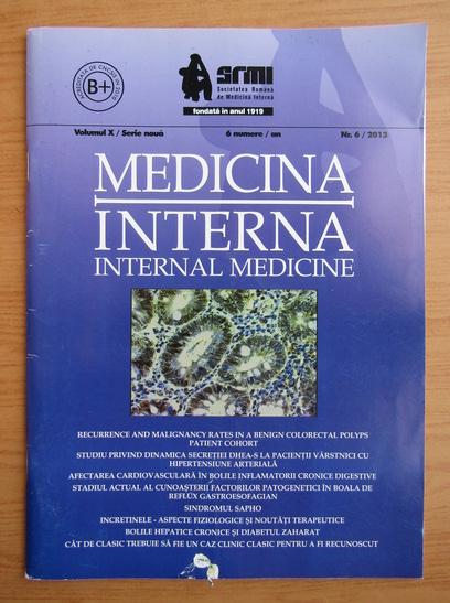 Anticariat: Revista Medicina interna, volumul 10, nr. 6, 2013