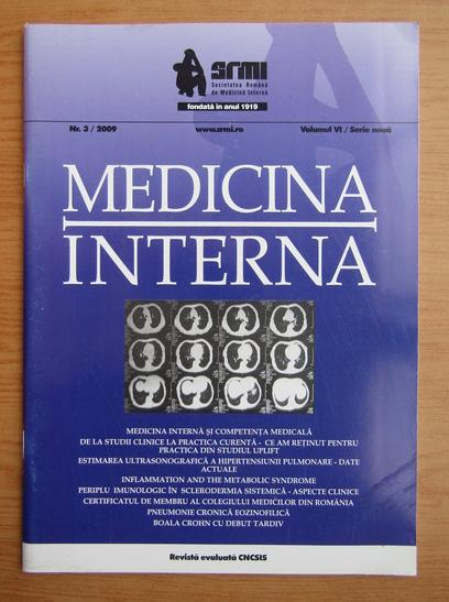 Anticariat: Revista Medicina interna, volumul 6, nr. 3, 2009