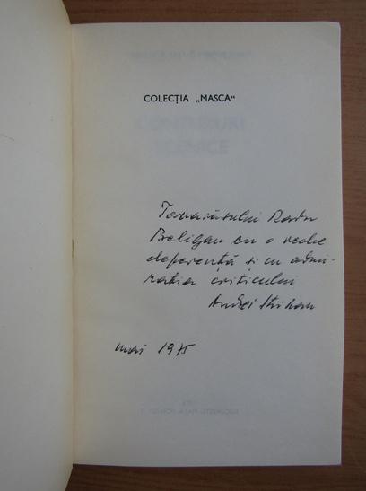 Anticariat: Andrei Strihan - Contururi scenice (cu autograful autorului)