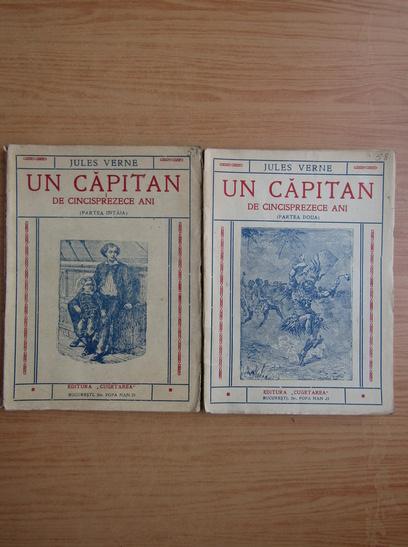 Anticariat: Jules Verne - Un capitan de cincisprezece ani (2 volume, 1940)