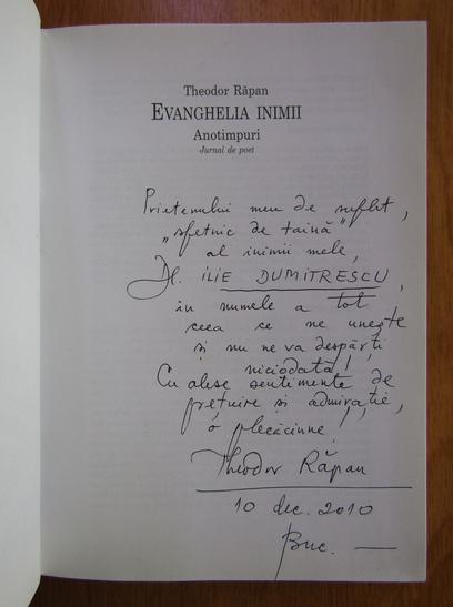 Anticariat: Theodor Rapan - Evanghelia inimii (cu autograful autorului)