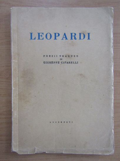 Anticariat: Giacomo Leopardi - Poezii