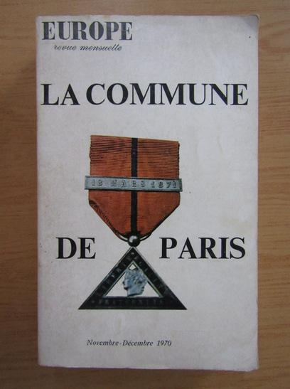 Anticariat: Europe. La commune de Paris