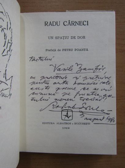 Anticariat: Radu Carneci - Un spatiu de dor (cu autograful autorului)