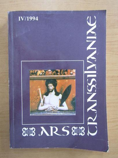 Anticariat: Revista Ars Transsilvaniae, nr. 4, 1994