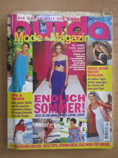 Anticariat: Revista Burda, nr. 7, 1998
