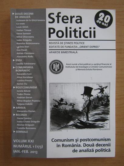 Anticariat: Revista Sfera Politicii, volumul XXI, nr. 1 (173), ianuarie-februarie 2013