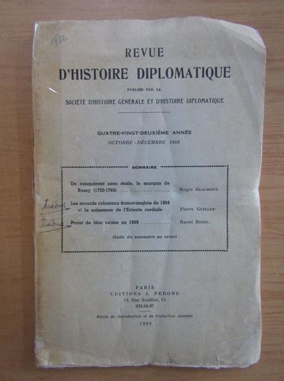 Anticariat: Revue d'histoire diplomatique, octobre-decembre 1968