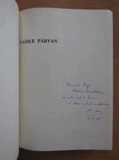 Anticariat: Alexandru Zub - Vasile Parvan (cu autograful autorului)