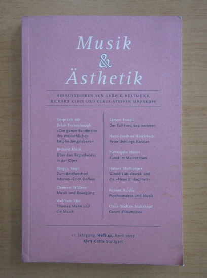 Anticariat: Musik und Asthetik, nr. 11, aprilie 2007
