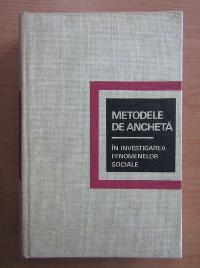 Anticariat: C. A. Moser - Metodele de ancheta
