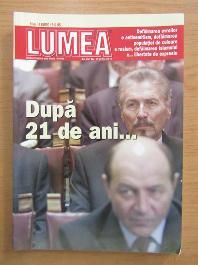 Anticariat: Revista Lumea, an XVI, nr. 12 (213), 2010