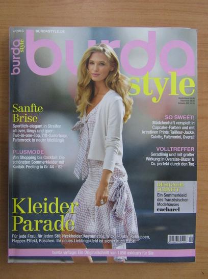 Anticariat: Revista Burda, nr. 4, 2015