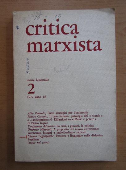 Anticariat: Revista Critica Marxista, nr. 2, 1977