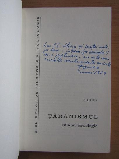 Anticariat: Z. Ornea - Taranismul (cu autograful autorului)