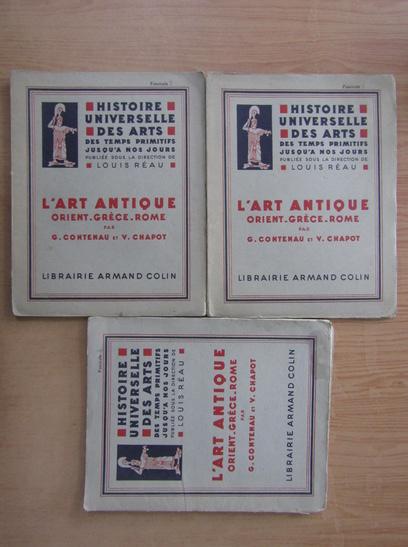 Anticariat: Histoire Universelle des Arts. L'Art Antique Orient-Grece-Rome (vol. 2, 3, 4)