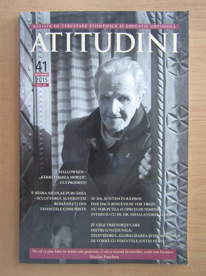 Anticariat: Revista Atitudini, anul VII, nr. 41, noiembrie 2015