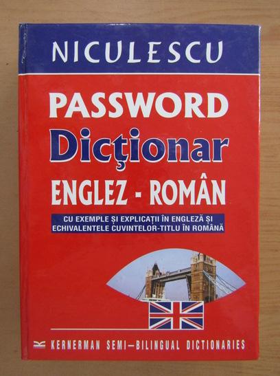 Anticariat: Password. Dictionar englez-roman