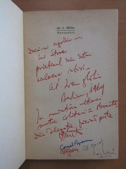 Anticariat: Alecu Ivan Ghilia - Povestiri (cu autograful autorului)