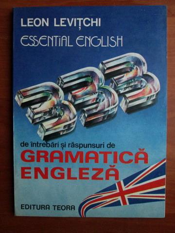 Anticariat: Leon Levitchi - 333 de intrebari si raspunsuri de gramatica engleza