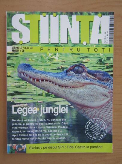 Anticariat: Revista Stiinta pentru toti, nr. 27, martie 2005