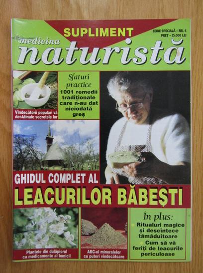 Anticariat: Revista Medicina Naturista Supliment, nr. 6