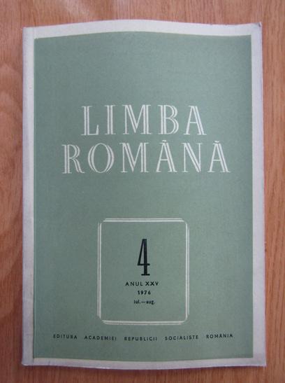 Anticariat: Revista Limba Romana, anul XXV, nr. 4, 1976