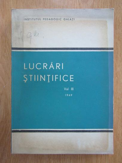 Anticariat: Ioan Brezeanu - Lucrari stiintifice (volumul 3)