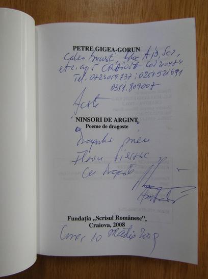 Anticariat: Petre Gigea Gorun - Ninsori de argint (cu autograful autorului)