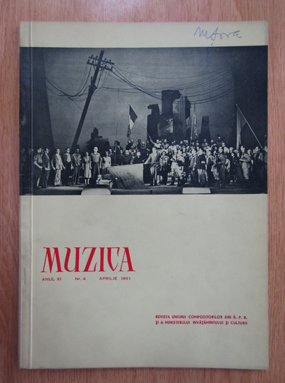 Anticariat: Revista Muzica, anul XI, nr. 4, aprilie 1961