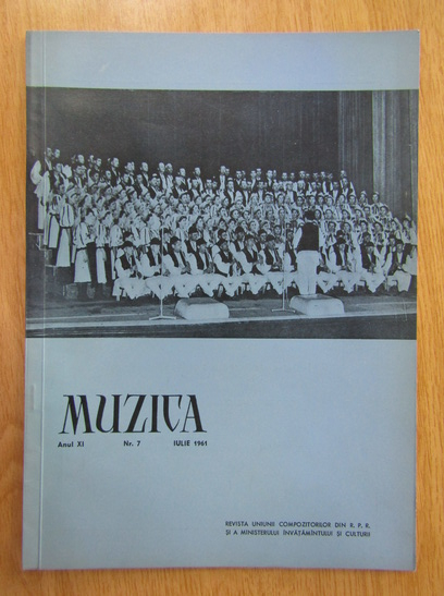 Anticariat: Revista Muzica, anul XI, nr. 7, iulie 1961