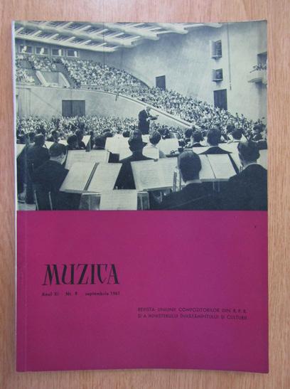 Anticariat: Revista Muzica, anul XI, nr. 9, septembrie 1961