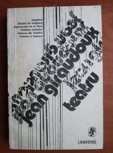 Anticariat: Jean Giraudoux - Teatru