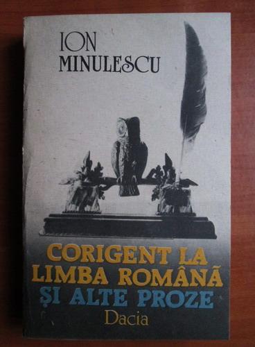 Anticariat: Ion Minulescu - Corigent la limba romana si alte proze
