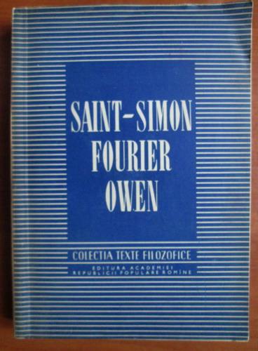 Anticariat: Saint Simon, Fourier, Owen (colectia Texte Filozofice)