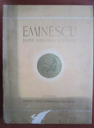 Anticariat: Mihai Eminescu - Poezii. Editie bibliofila ilustrata (1944)