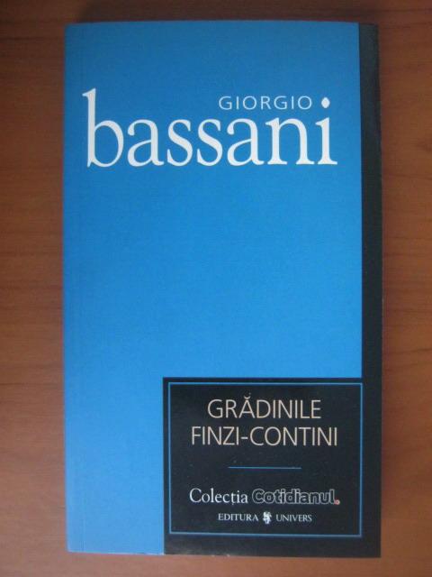 Anticariat: Giorgio Bassani - Gradinile Finzi-Contini (Cotidianul)