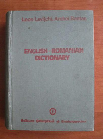 Anticariat: Leon Levitchi - English-Romanian Dictionary (70.000 cuvinte)