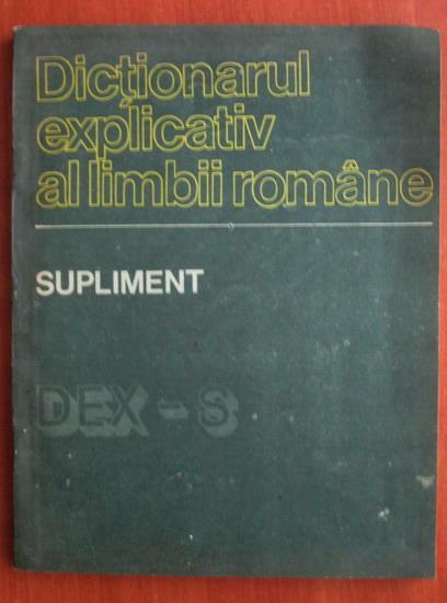 Anticariat: Supliment al dictionarului explicativ al limbii romane