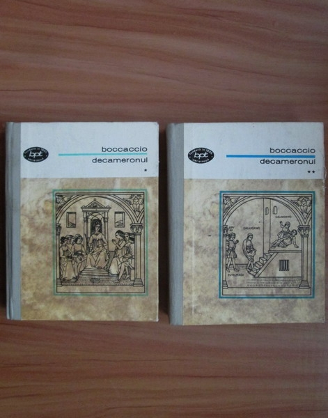 Anticariat: Giovanni Boccaccio - Decameronul (2 volume, cartonate)
