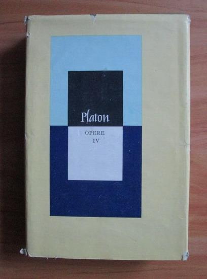 Anticariat: Platon - Opere (volumul 4)