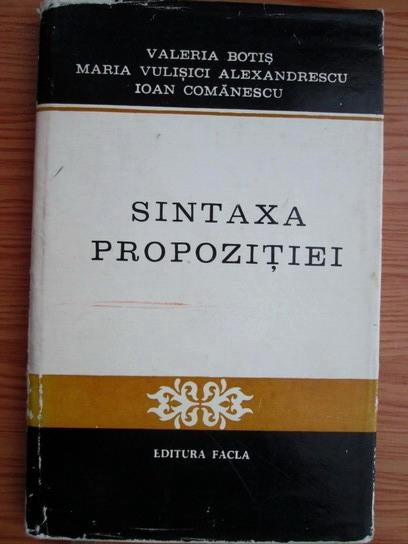 Anticariat: Valeria Botis - Sintaxa propozitiei