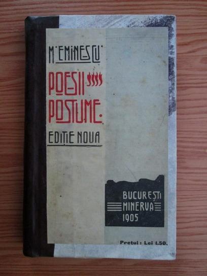 Anticariat: Mihai Eminescu - Poezii postume (1905)