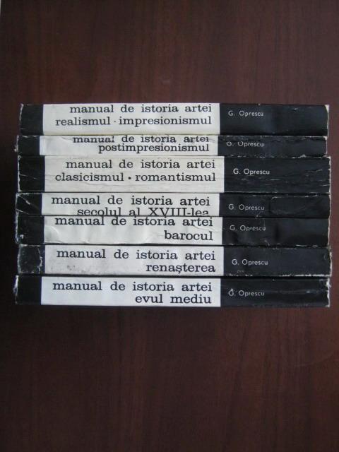 Anticariat: George Oprescu - Manual de istoria artei (7 volume)