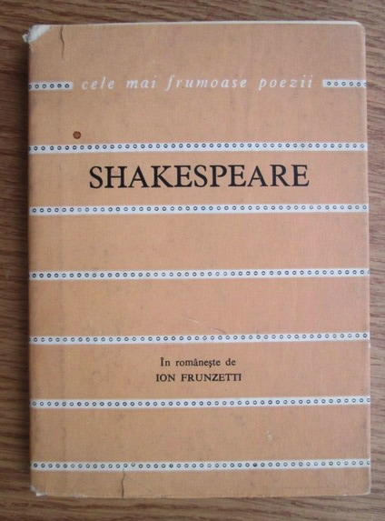 Anticariat: Shakespeare - Sonete (colectia Cele mai frumoase poezii)